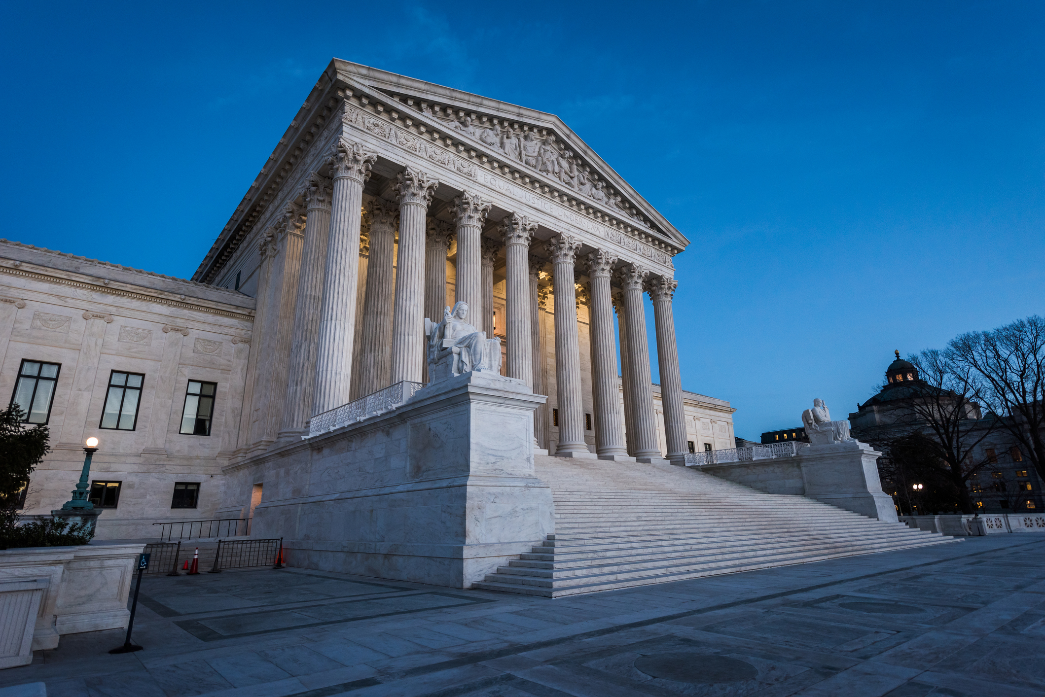 This photo shows the United States Supreme Court Building.