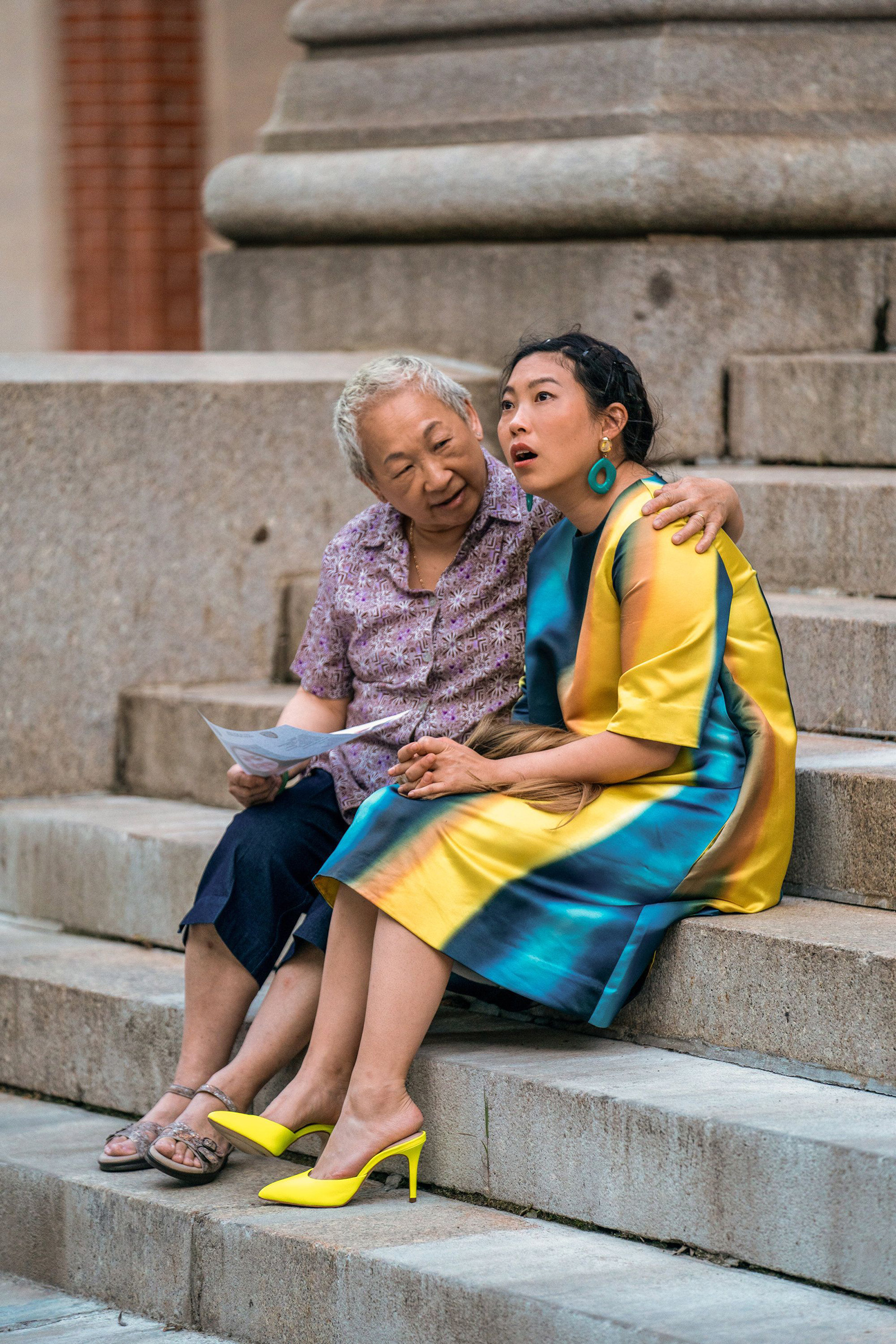 Grandmother knows best: Chinn guides Nora (Awkwafina) through her quarterlife crisis