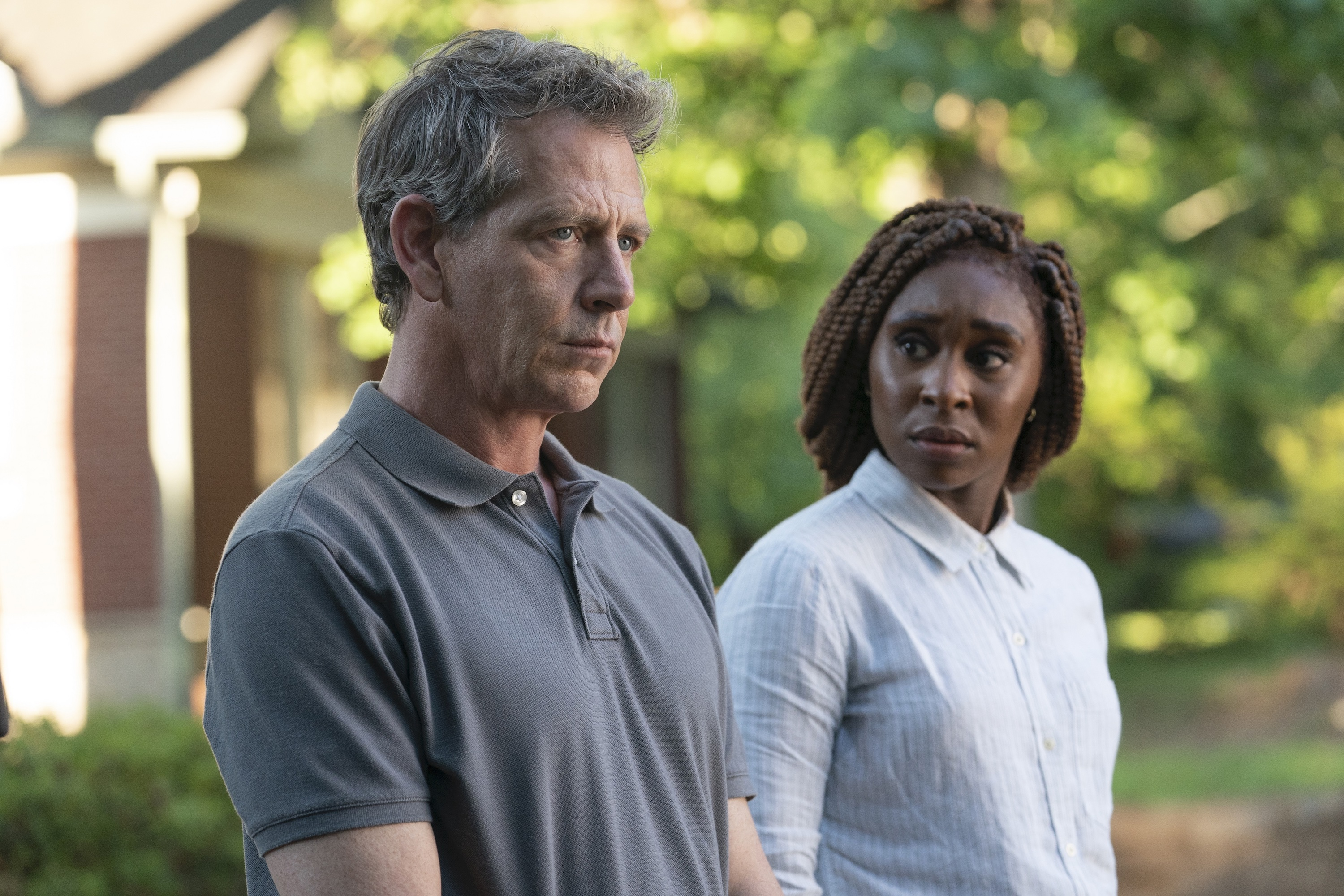 Ben Mendelsohn and Cynthia Erivo in 'The Outsider'