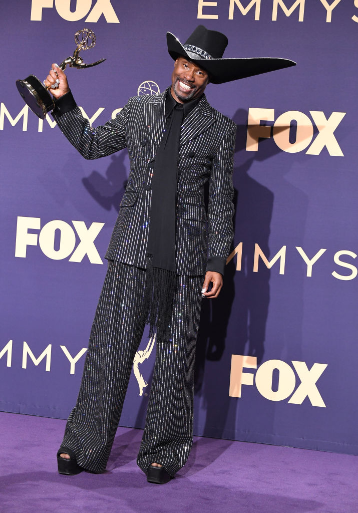 Billy Porter poses at the 71st Emmy Awards at Microsoft Theater on September 22, 2019 in Los Angeles, California.