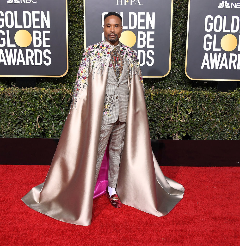 Billy Porter arrives at the 76th Annual Golden Globe Awardsat The Beverly Hilton Hotel on January 6, 2019 in Beverly Hills, California.