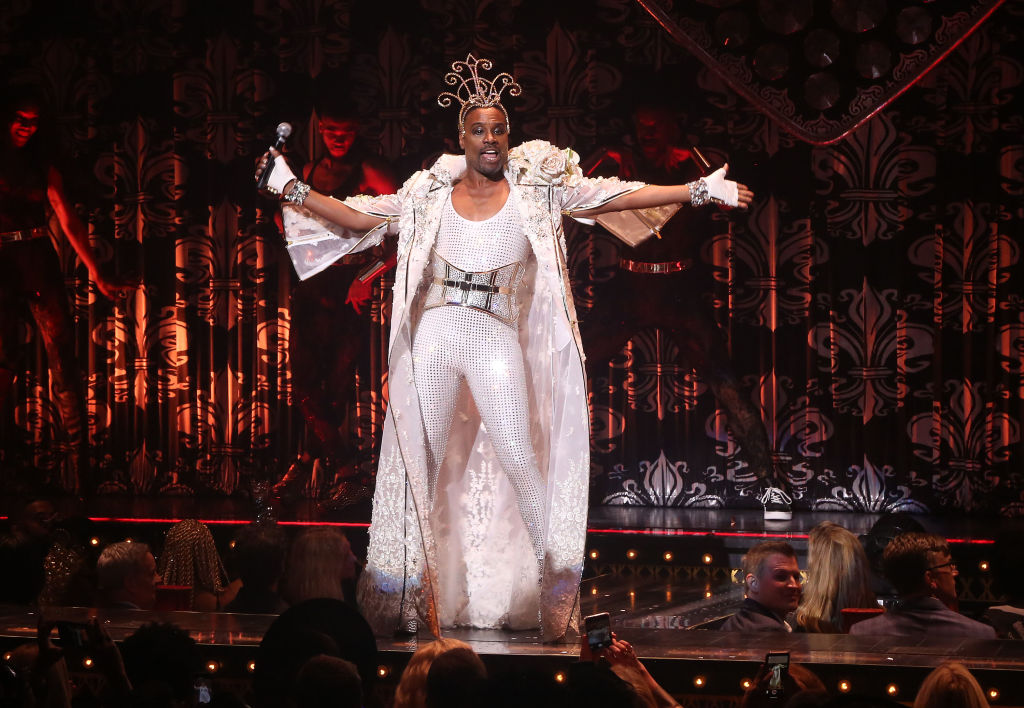 Billy Porter performs in The Blonds x Moulin Rouge! The Musical Fashion Show  at The Al Hirschfeld Theatre on September 9, 2019 in New York City.