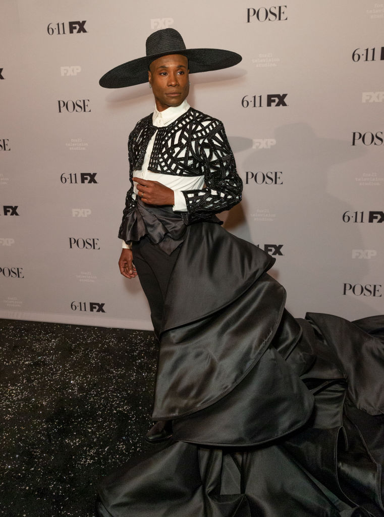Billy Porter wearing dress by Francis Libiran attends FX POSE Season 2 Premiere at The Plaza Hotel on June 5, 2019.
