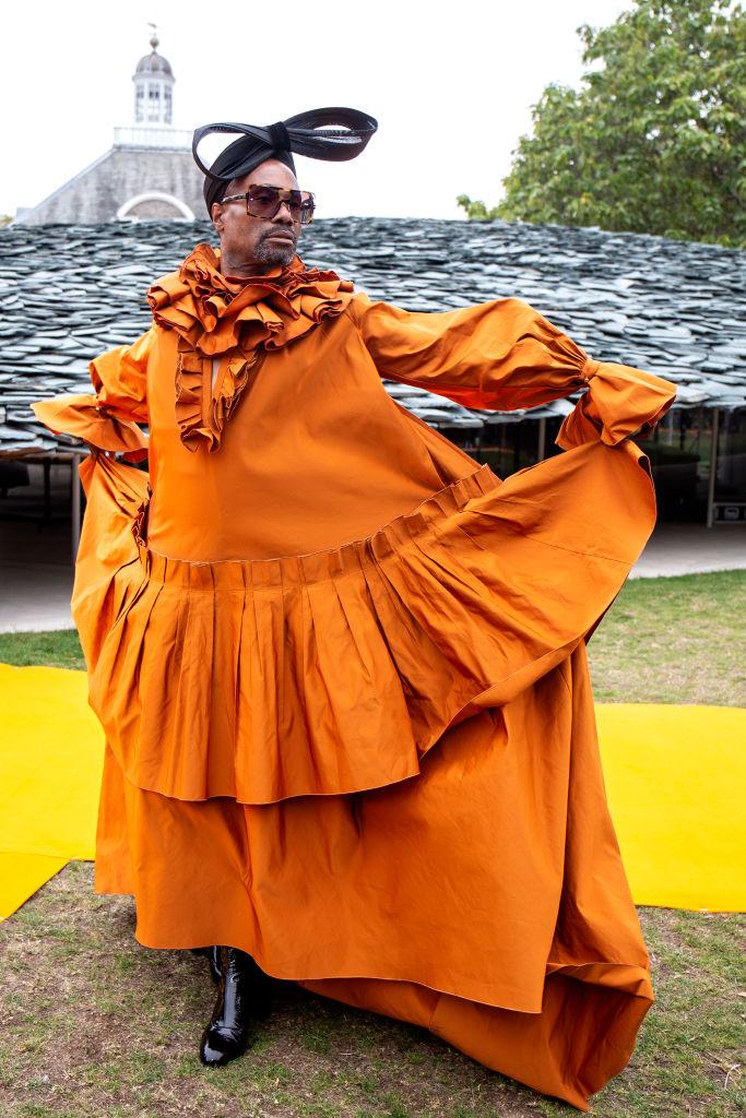 Billy Porter attends 'Roksanda S/S 2020' fashion show during London Fashion Week September 2019 London on September 16, 2019 in London, England.
