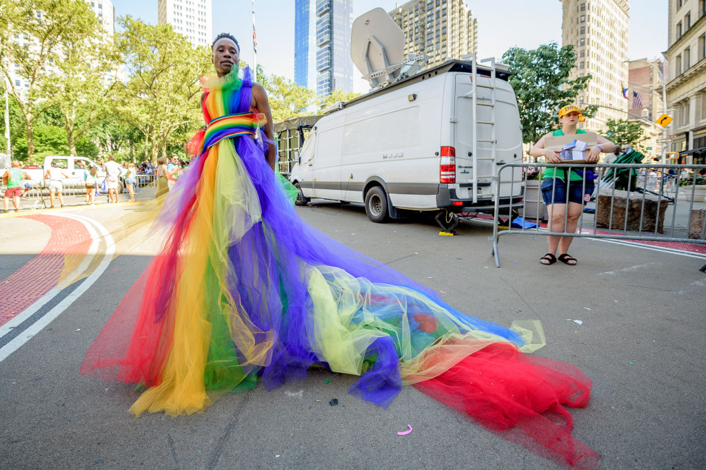 Billy Porter attends the WorldPride NYC 2019 March on June 30, 2019 in New York City.