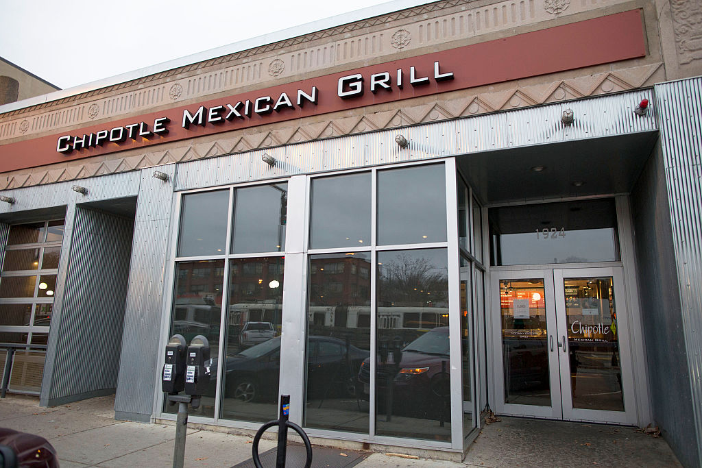 Officials in Massachusetts fined Chipotle for $1.3 million for 13,253 child labor law violations at the 50 stores across the state. Pictured here, a location in Boston in 2015.
