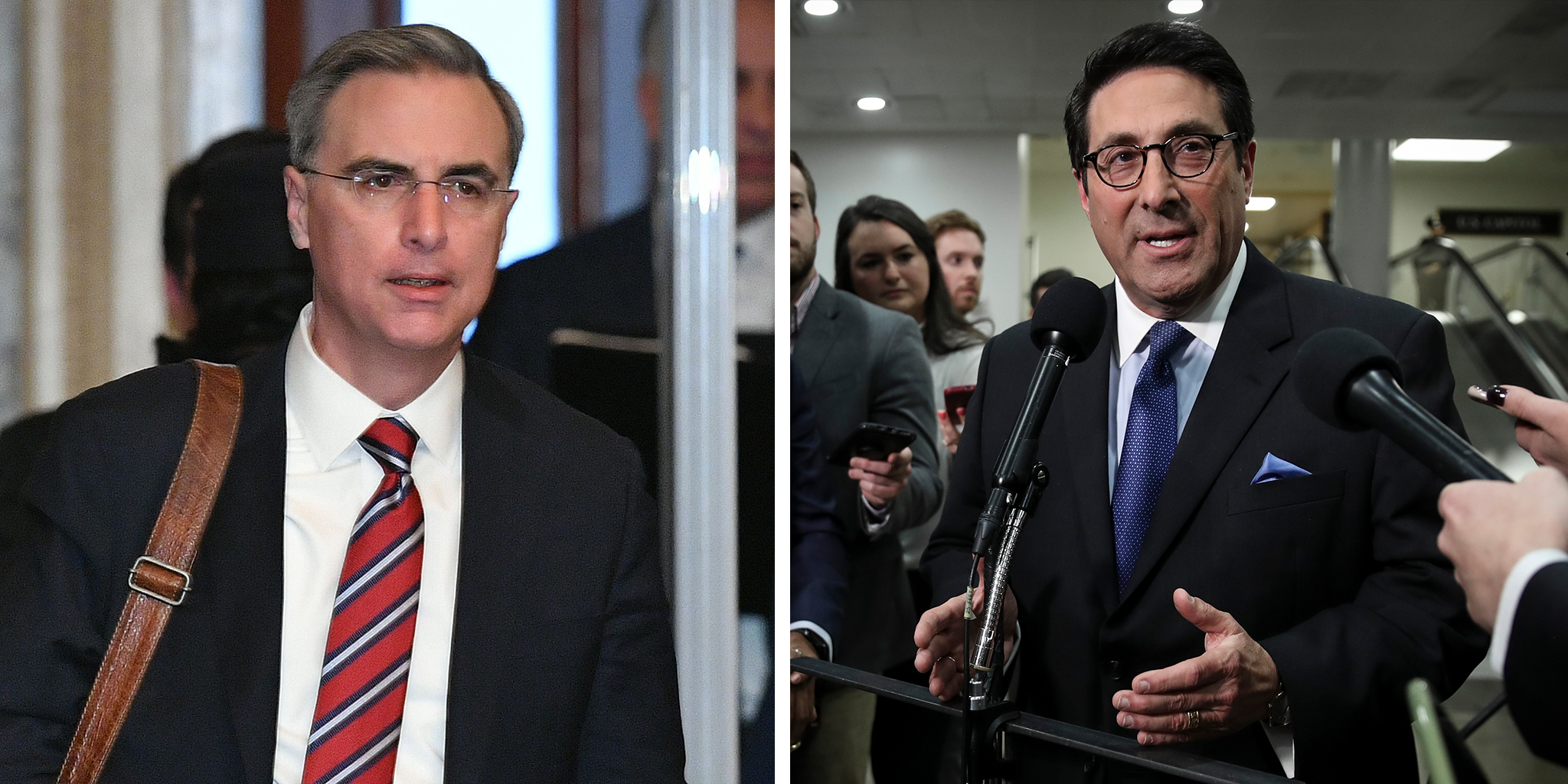 White House counsel Pat Cipollone and U.S. President Donald Trump's personal lawyer Jay Sekulow.