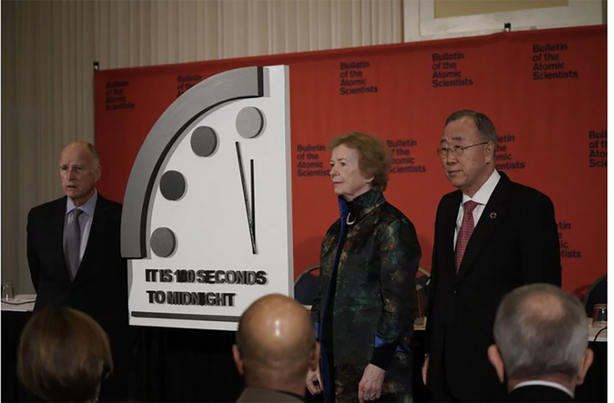 The Doomsday Clock was moved forward on Jan. 23, 2020.