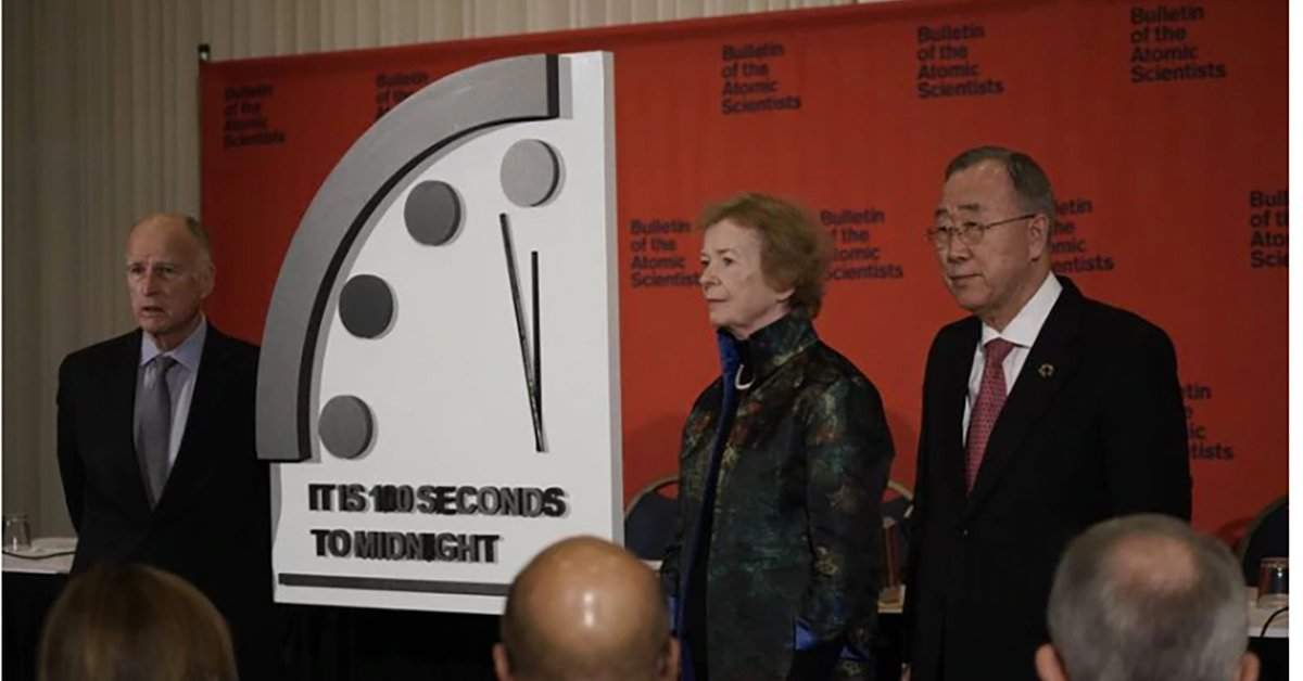 Image result for Doomsday Clock reaches 100 seconds
