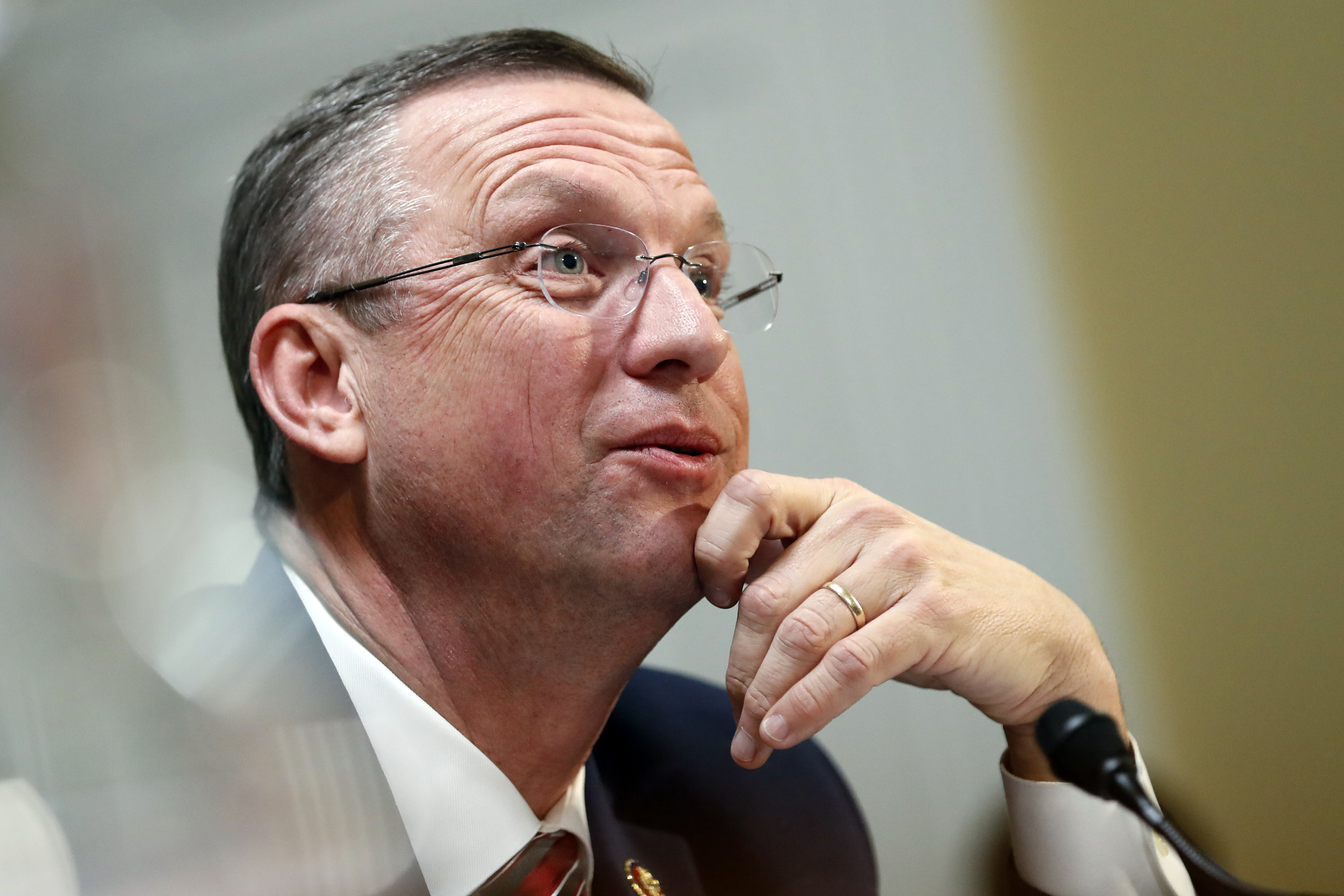 House Judiciary Committee ranking member Rep. Doug Collins (R-GA) speaks during a hearing on the impeachment against President Donald Trump on Dec. 17, 2019 in Washington, D.C.