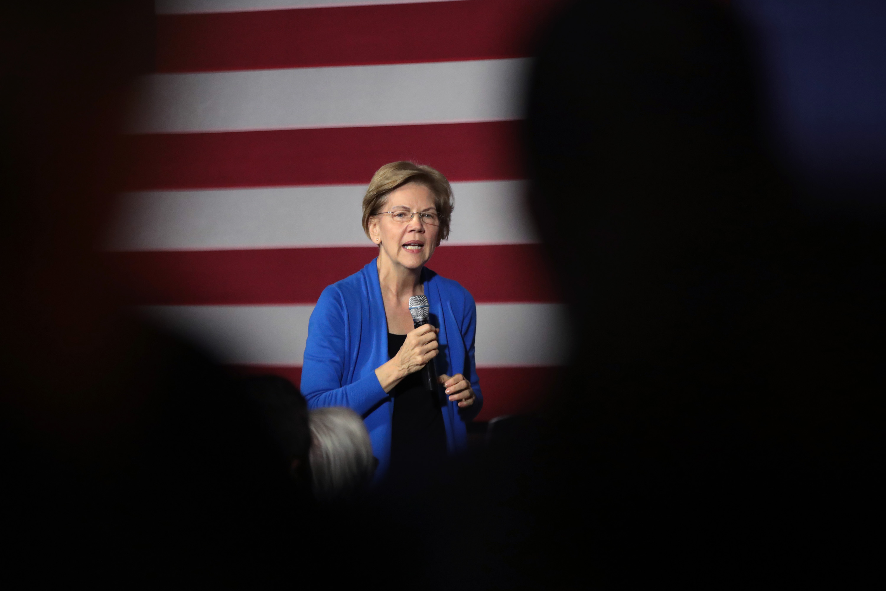 Democratic presidential candidate Sen. Elizabeth Warren speaks to guests during a campaign stop in Cedar Rapids, Iowa on Dec. 21, 2019.
