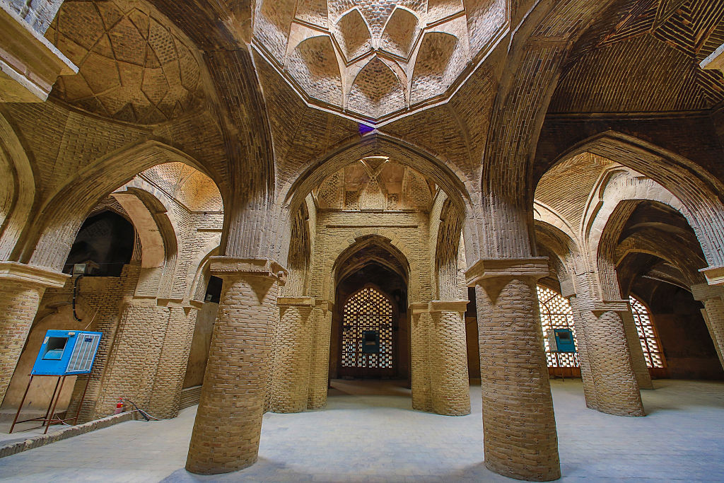 Iran, Esfahan City, Masjed-e Jame (Friday Mosque) UNESCO, world heritage, Prayer Hall,.