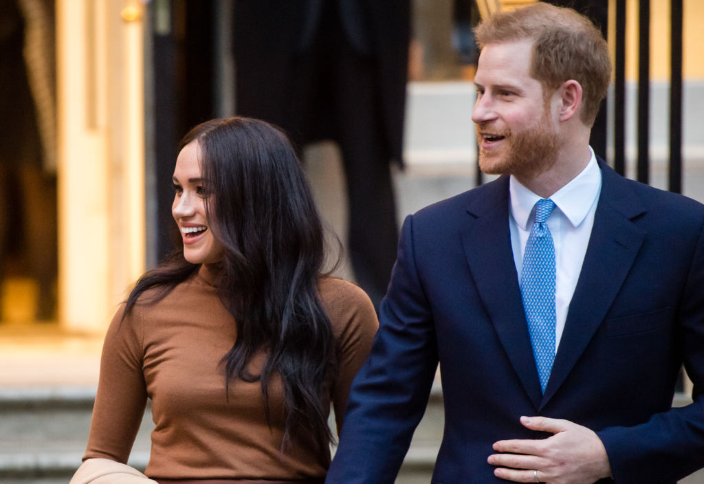 Prince Harry, Duke of Sussex and Meghan, Duchess of Sussex on January 07, 2020 in London, England.