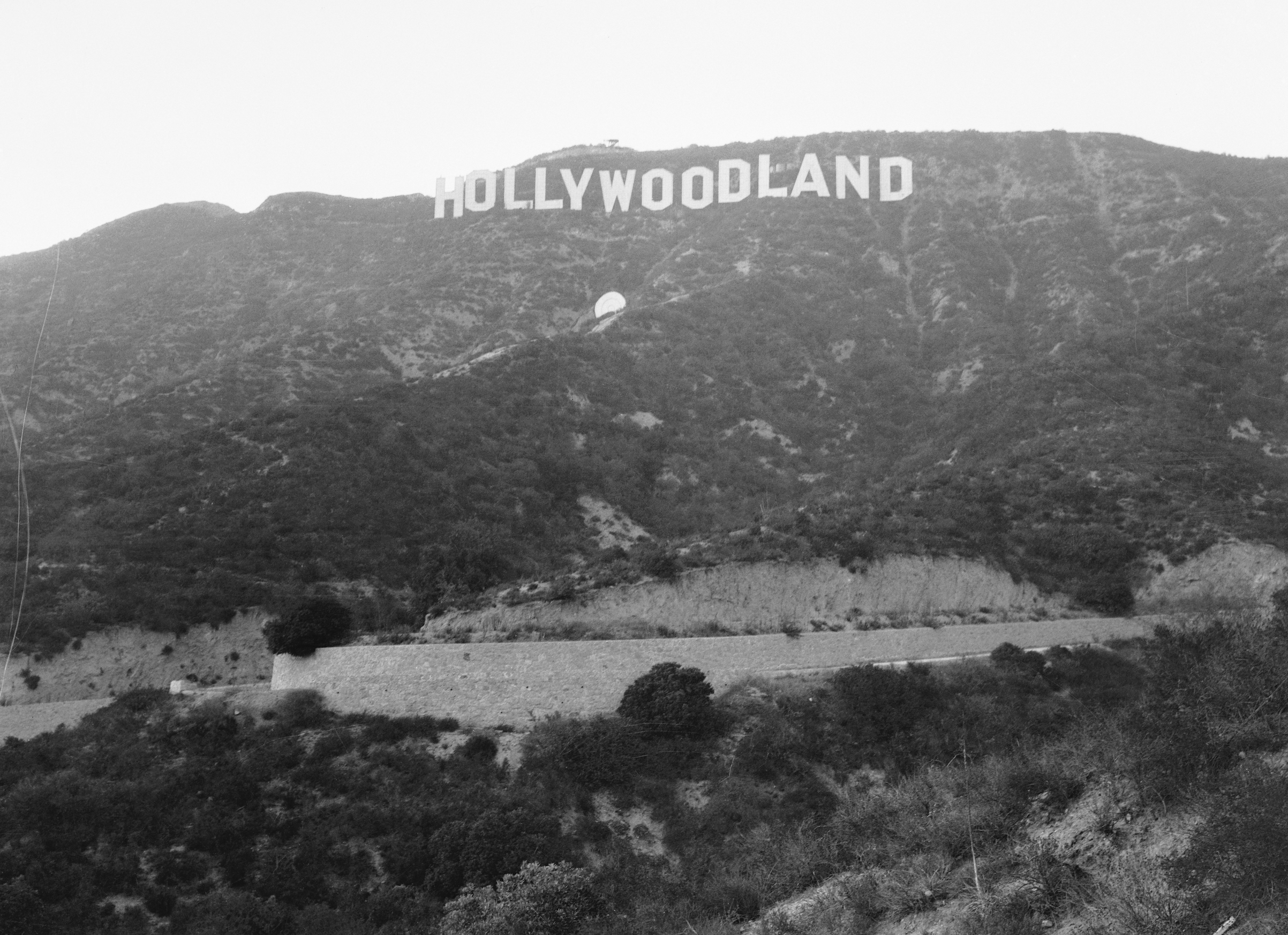 The sign overlooking Hollywood, Calif., in 1932