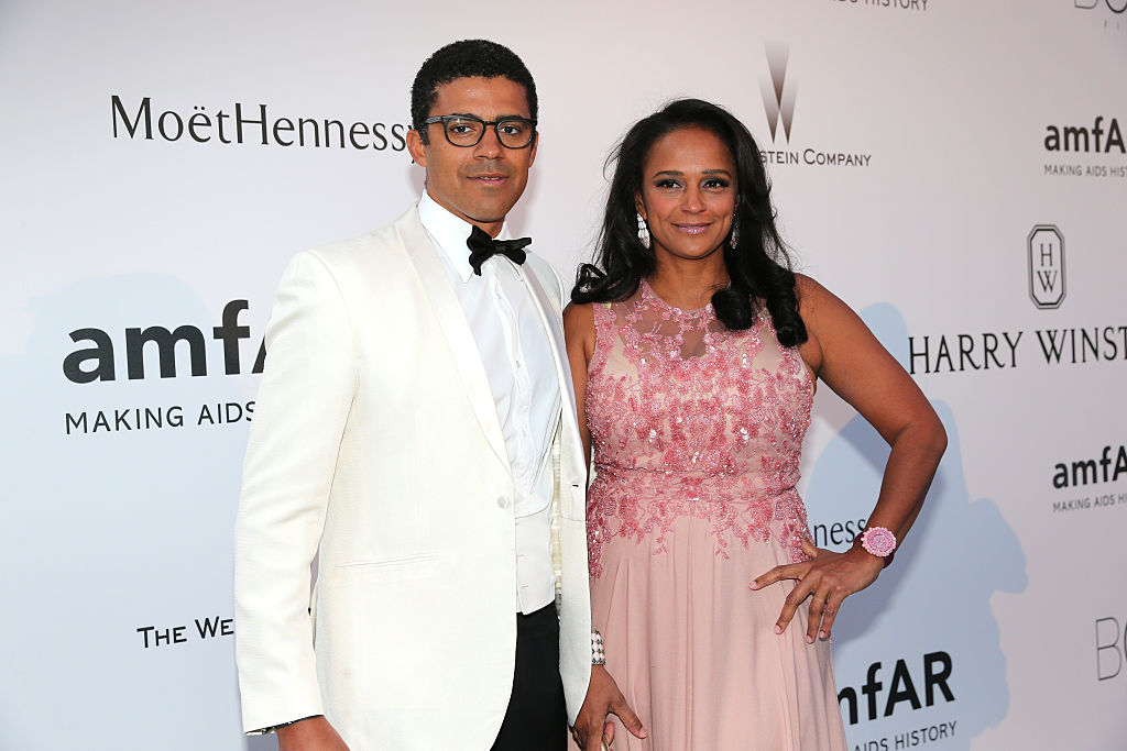 Isabel dos Santos and Sindika Dokolo pose during amfAR's 22nd Cinema Against AIDS Gala, at Hotel du Cap-Eden-Roc on May 21, 2015 in Cap d'Antibes, France.