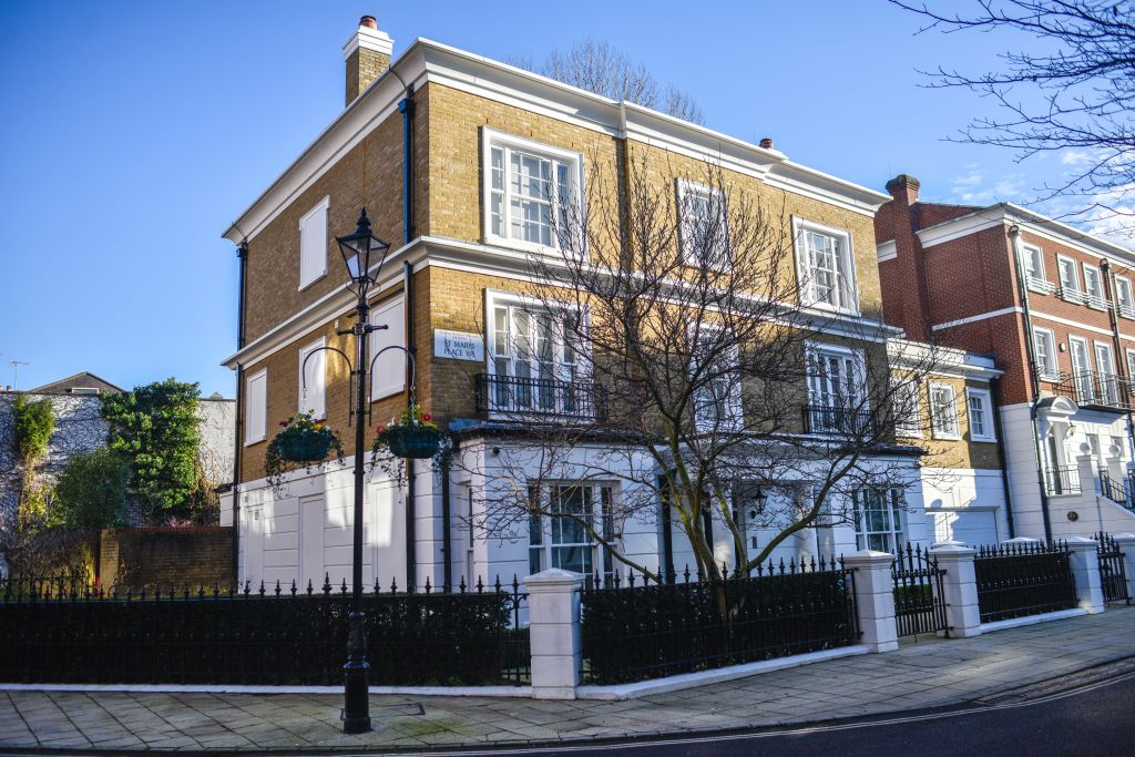 A view of a property, which cost 13 million pounds, owned by Isabel Dos Santos on January 20, 2020 in London, United Kingdom.