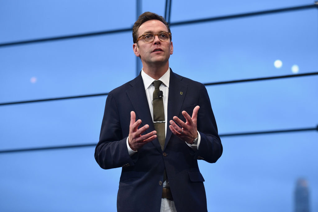 James Murdoch speaks at National Geographic's Further Front Event at Jazz at Lincoln Center on April 19, 2017 in New York City.