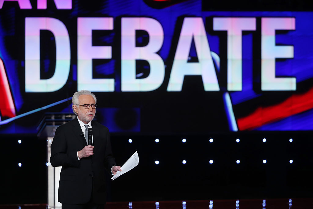 CNN anchor Wolf Blitzer speaks before the first round of the CNN Republican presidential debate on December 15, 2015 in Las Vegas, Nevada.