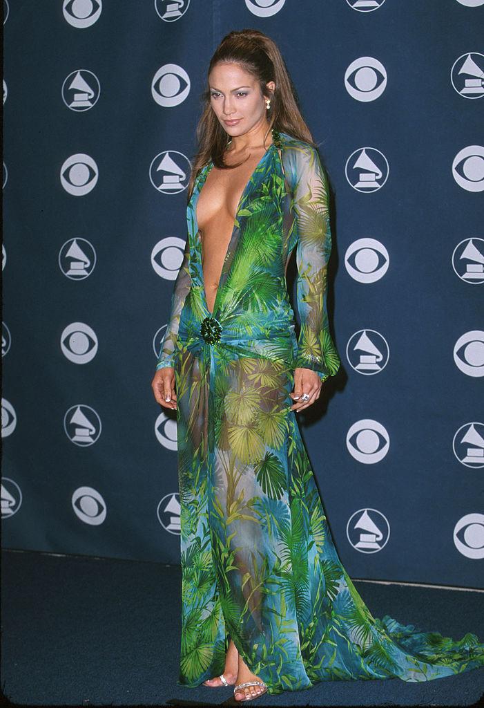 Jennifer Lopez at the 2000 Grammy Awards.