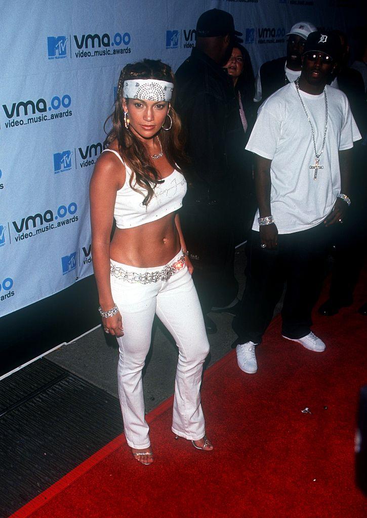 Jennifer Lopez at the New York City MTV Video Music Awards at Radio City Music Hall on Sept. 7, 2000.