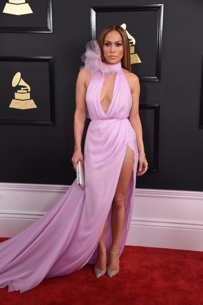Jennifer Lopez on the Red Carpet at Grammy Awards, broadcast live from the STAPLES Center in Los Angeles, Sunday, Feb. 12, 2017.
