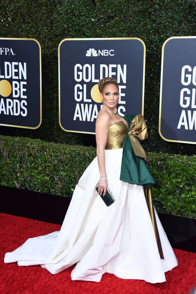 Jennifer Lopez attends the 77th Annual Golden Globe Awards at The Beverly Hilton Hotel on Jan. 5, 2020 in Beverly Hills, California.