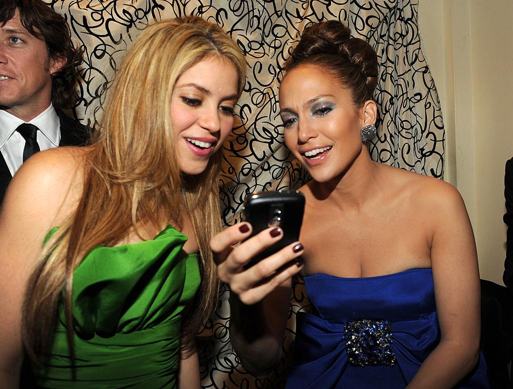 Shakira and Jennifer Lopez at the 2009 Latino Inaugural Gala - Celebrando El Cambio at Union Station on January 18, 2009 in Washington, D.C.