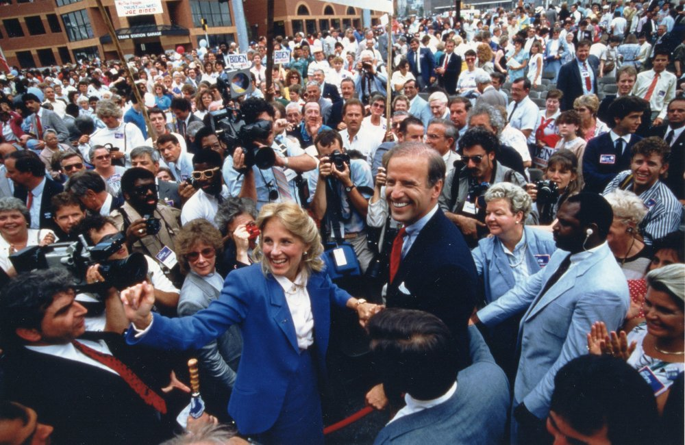 Biden's first presidential campaign ends before any votes are cast, amid a plagiarism scandal in 1987