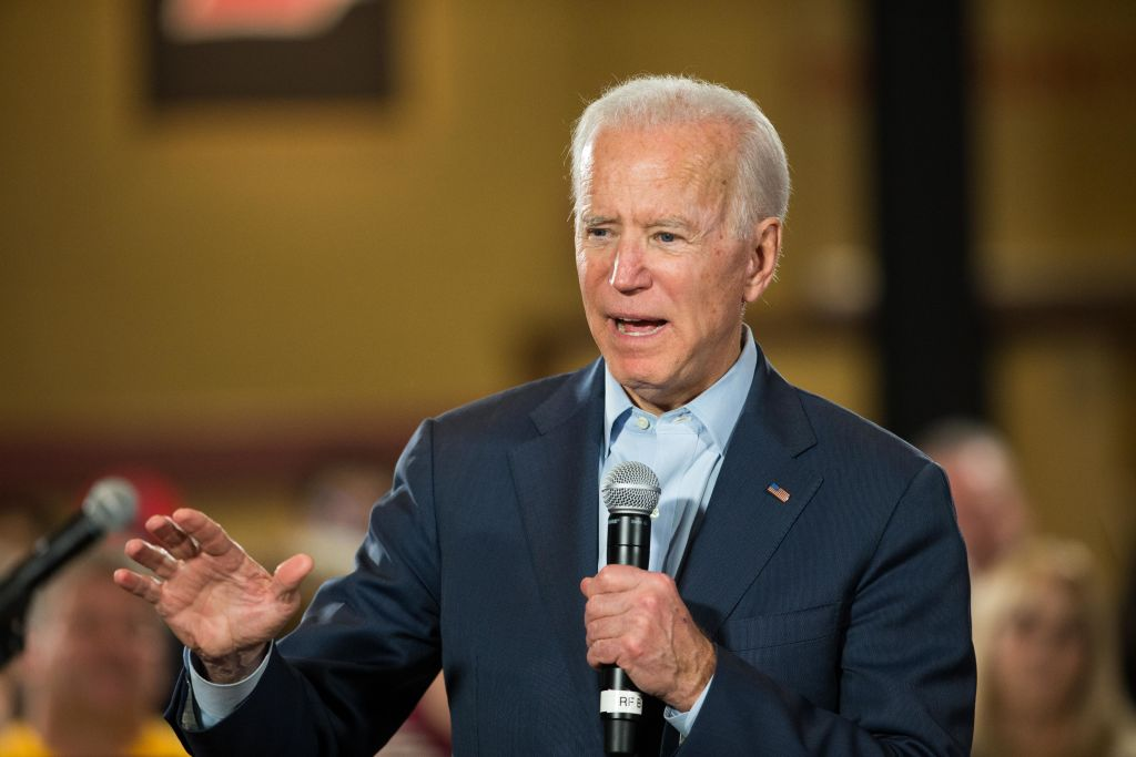 Democratic presidential candidate, former Vice President Joe Biden speaks during a campaign Town Hall in Derry, New Hampshire on Dec. 30, 2019.