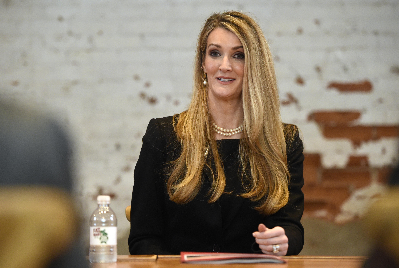 Sen. Kelly Loeffler speaks during a press conference in Augusta, Ga., Monday, Dec. 23, 2019.