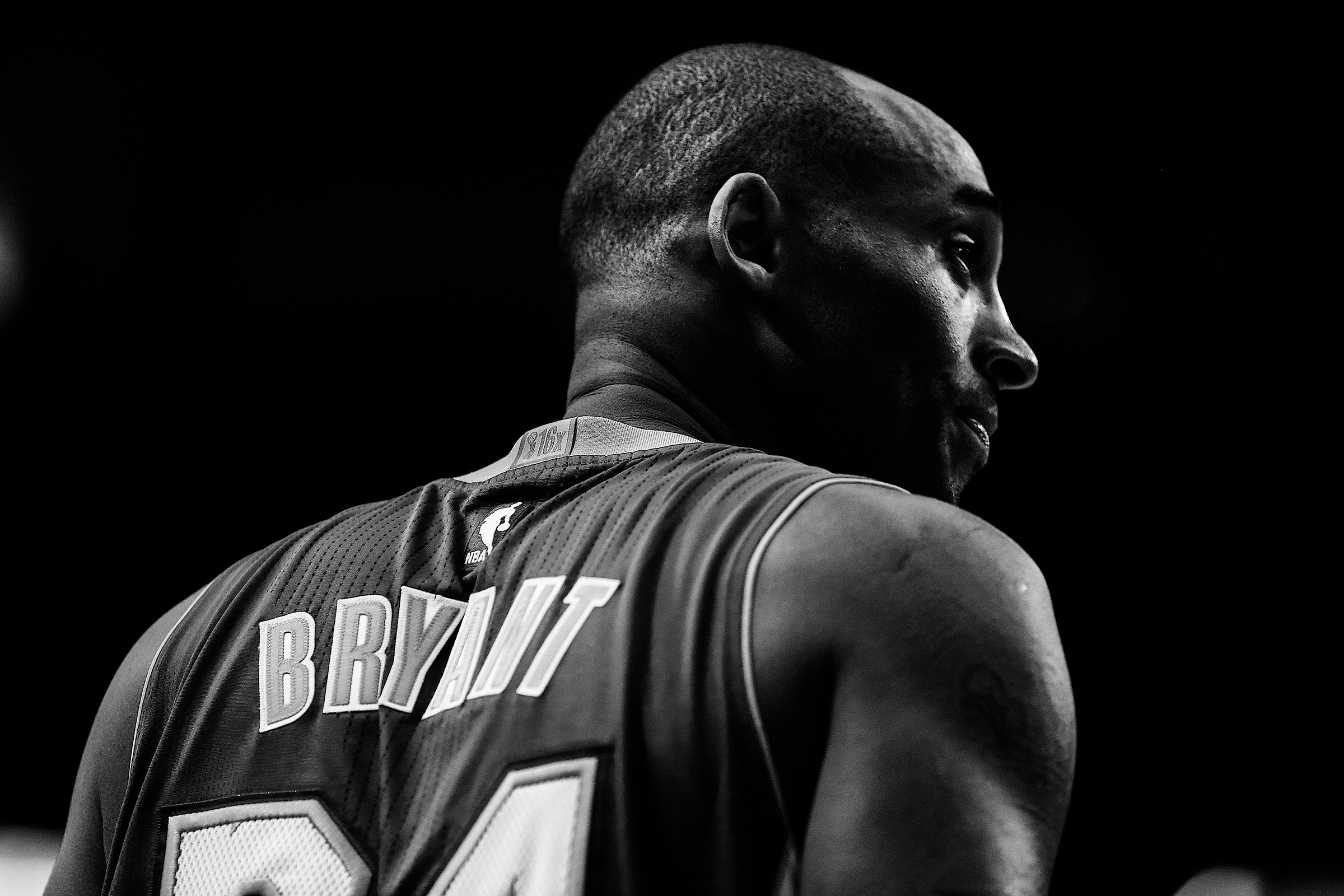 Kobe Bryant during a game against the Houston Rockets on April 10, 2016.