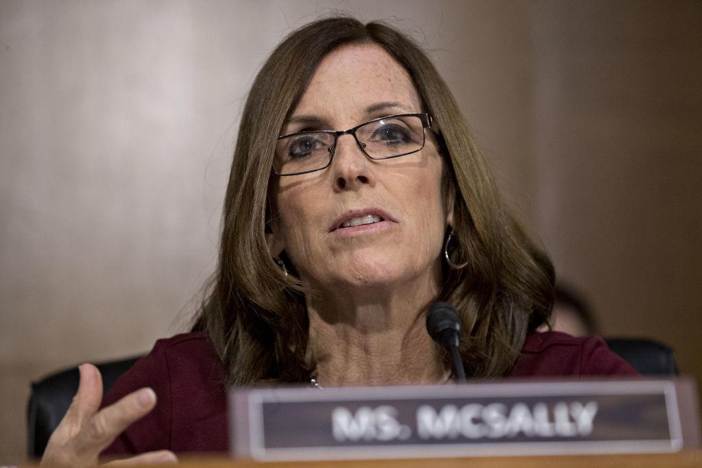 Senator Martha McSally, a Republican from Arizona, attends a Senate Banking Committee hearing in Washington, D.C. on Feb. 26, 2019.