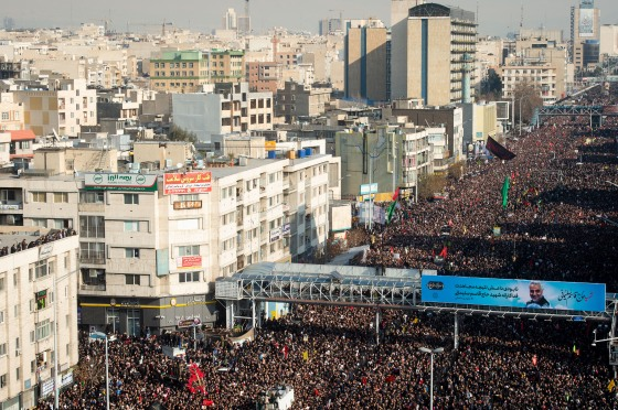 March in Tehran for Iranian Commander Killed in U.S. Airstrike