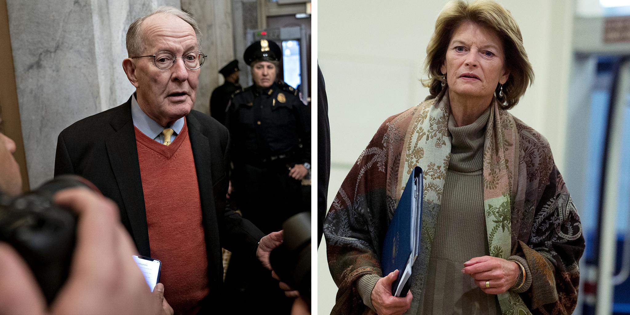 Republican Sen. Lamar Alexander of Tennessee and Sen. Lisa Murkowski, R-Alaska.