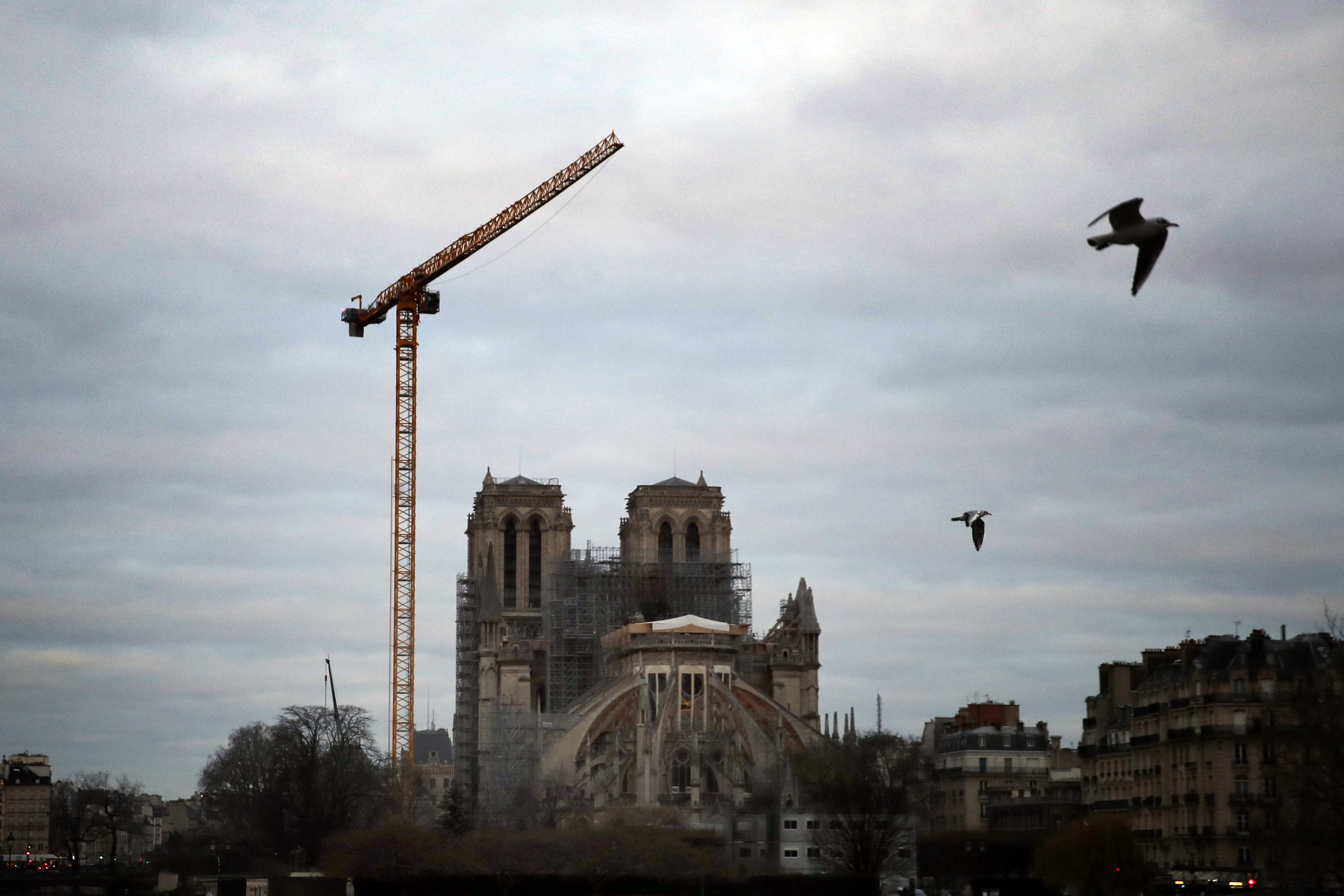 Notre Dame cathedral is pictured in Paris, on Jan. 5, 2020.