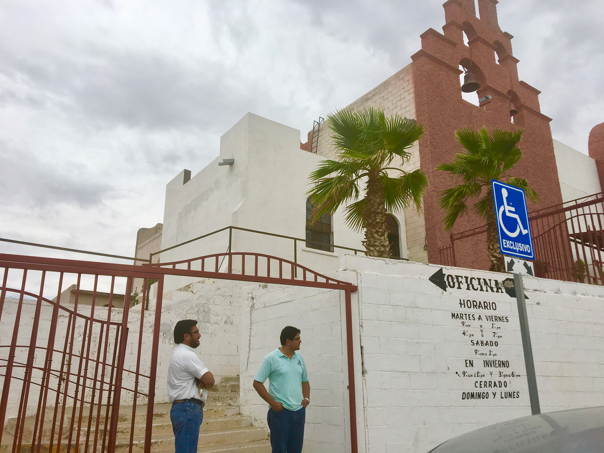 San Juan Apostol Evangelista church, where Sister Maria Antonia Aranda works, doubles as a migrant shelter in Juárez, see here in August 2019.