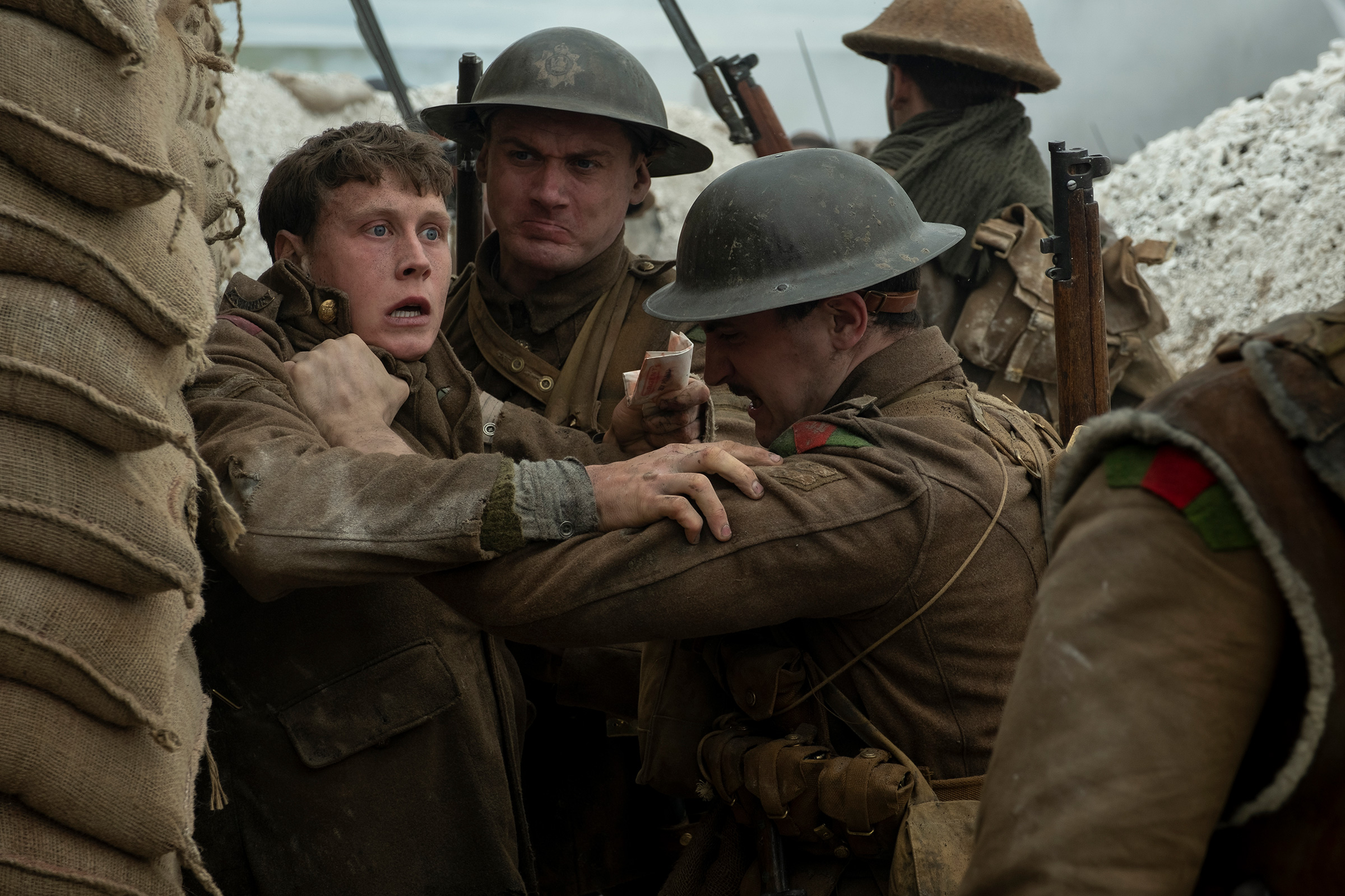 A bracing war drama shot in the style of one continuous take by director Sam Mendes, 1917 was nominated in 10 categories
