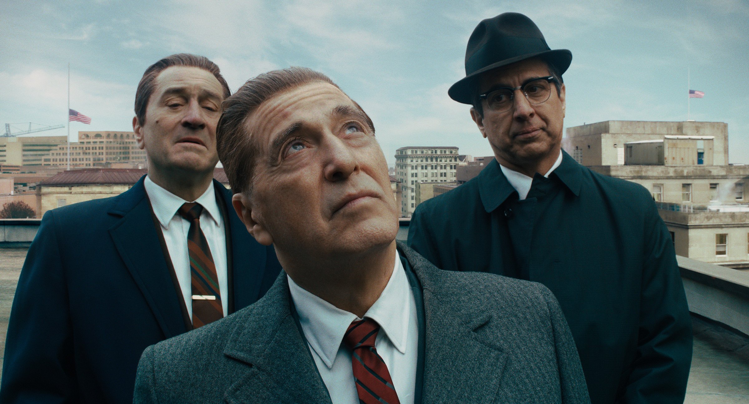 Martin Scorsese's The Irishman, his 3½-hour epic Mob movie for Netflix, received 10 nominations