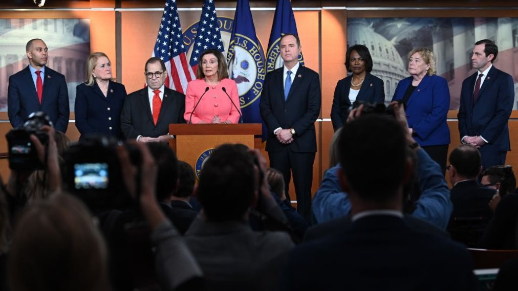 Image result for images of Nancy Pelosi names 7 impeachment managers/prosecutors for Trump's senate trial