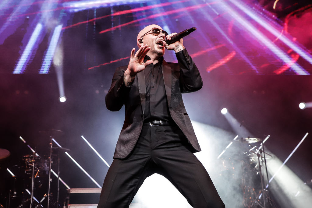 Pitbull performs during the Amor A La Musica at American Airlines Arena on December 07, 2019 in Miami, Florida.