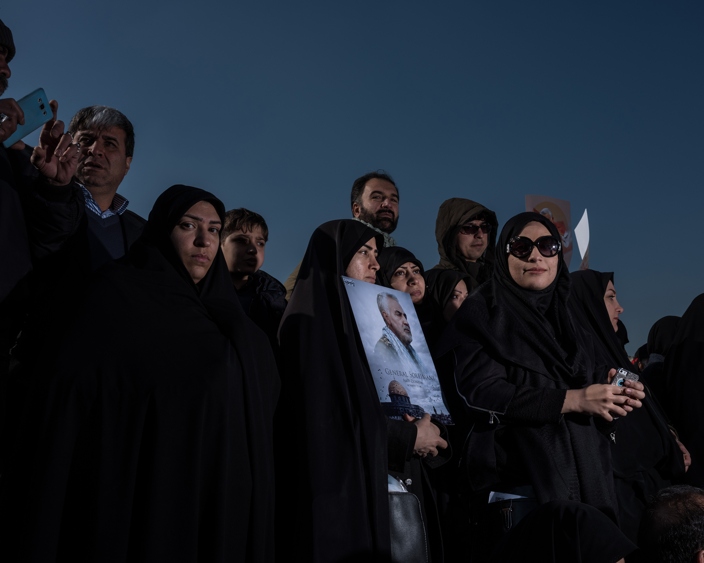 A group of mourners in Tehran.
