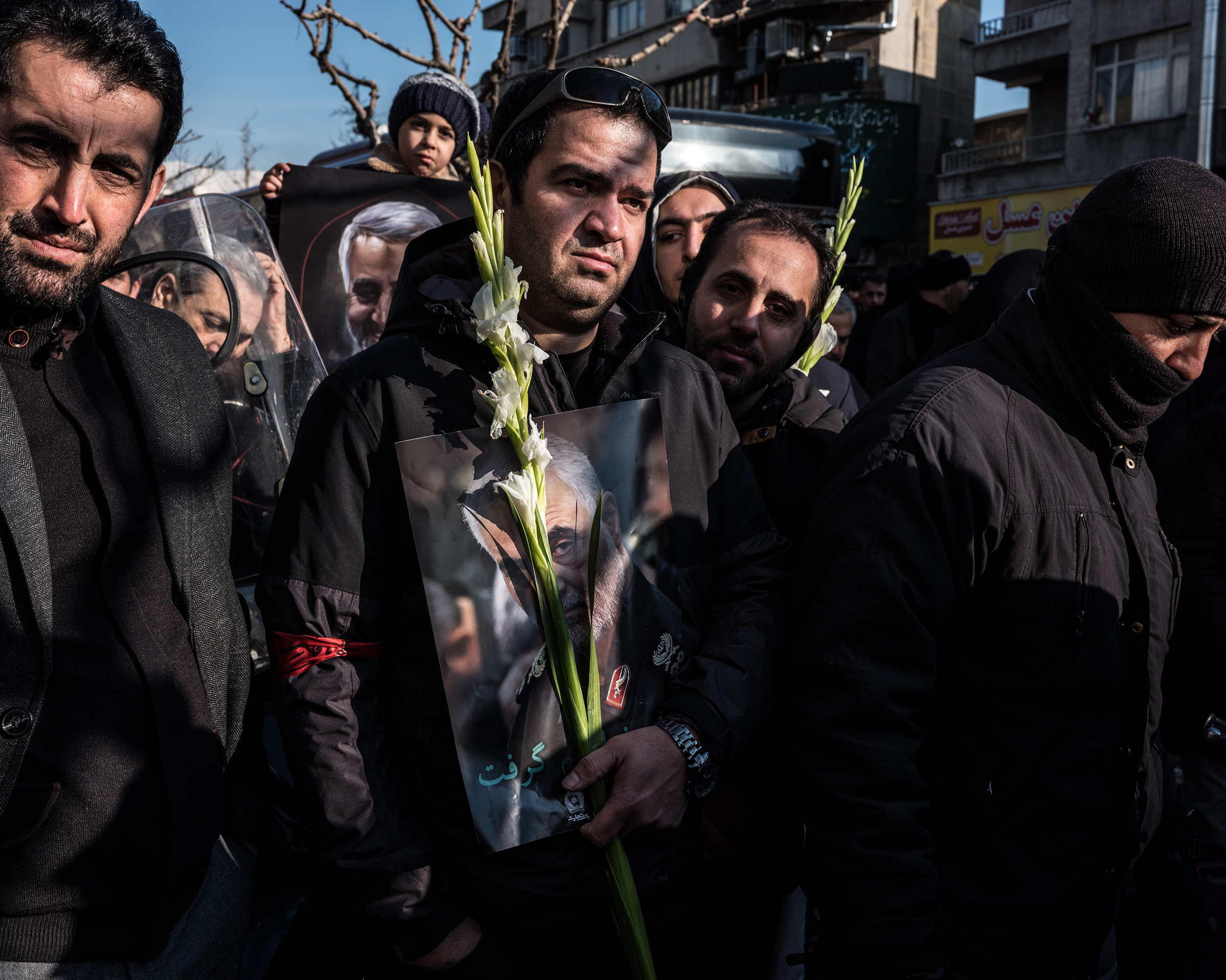 Vast crowds gathered in the streets of Iran's capital on Jan. 6 for a final farewell.