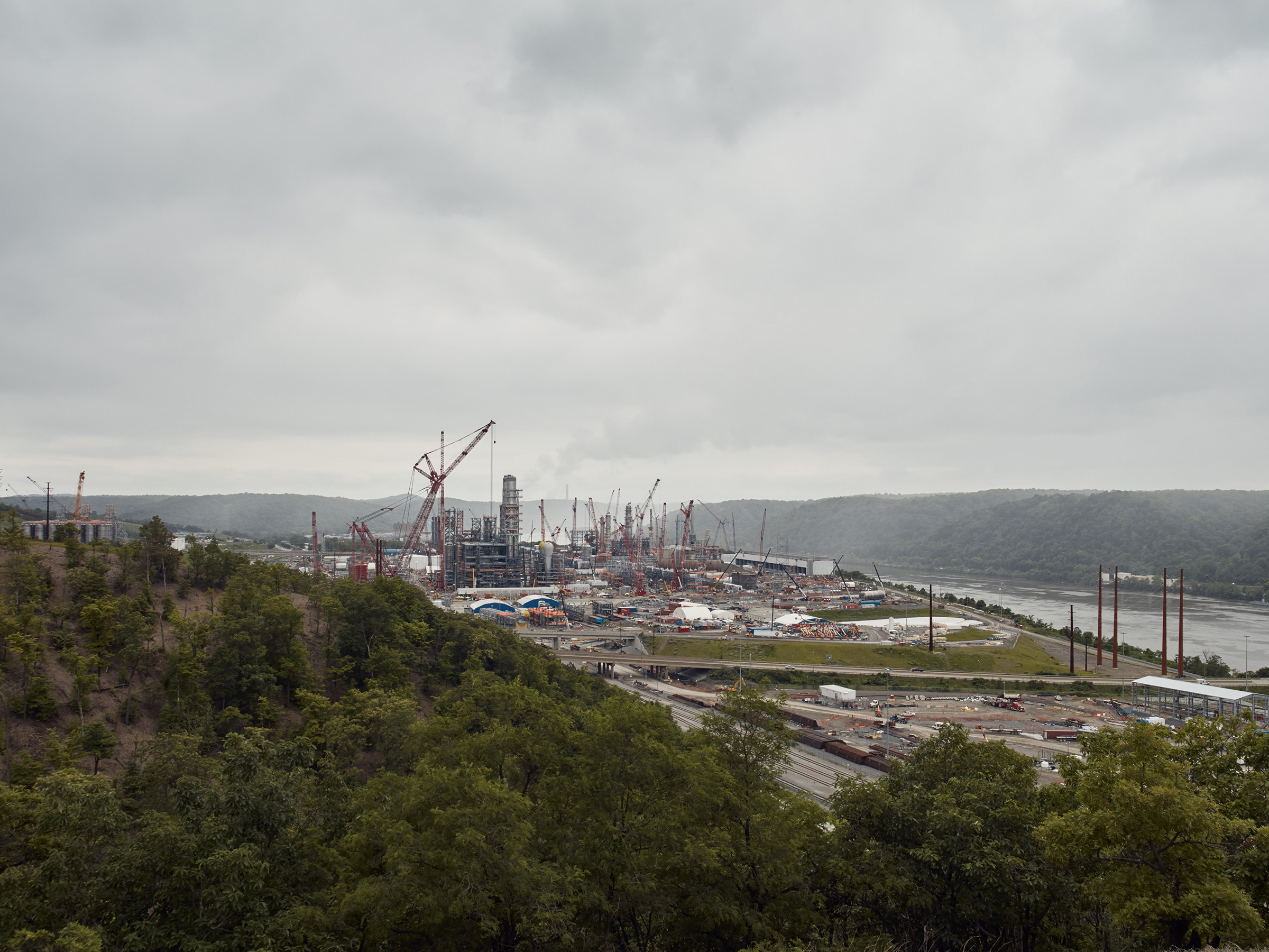 A $6 billion Shell plastics facility is currently under construction outside of Pittsburgh