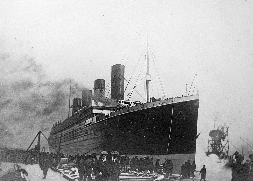 The 'Titanic', a passenger ship of the White Star Line, sank during the night of April 14-15, 1912.