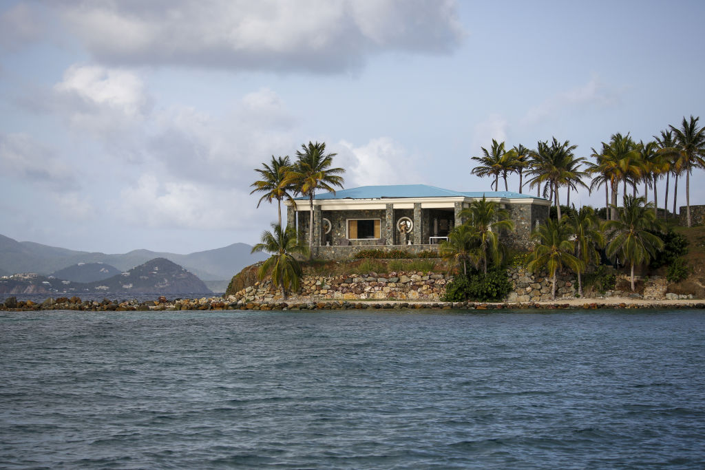 A villa stands on Little St. James Island, owned by fund manager Jefferey Epstein, in St. Thomas, U.S. Virgin Islands, on July 10, 2019.