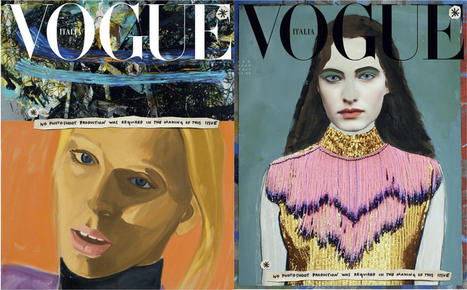 New 'Vogue Italia' cover illustrations.