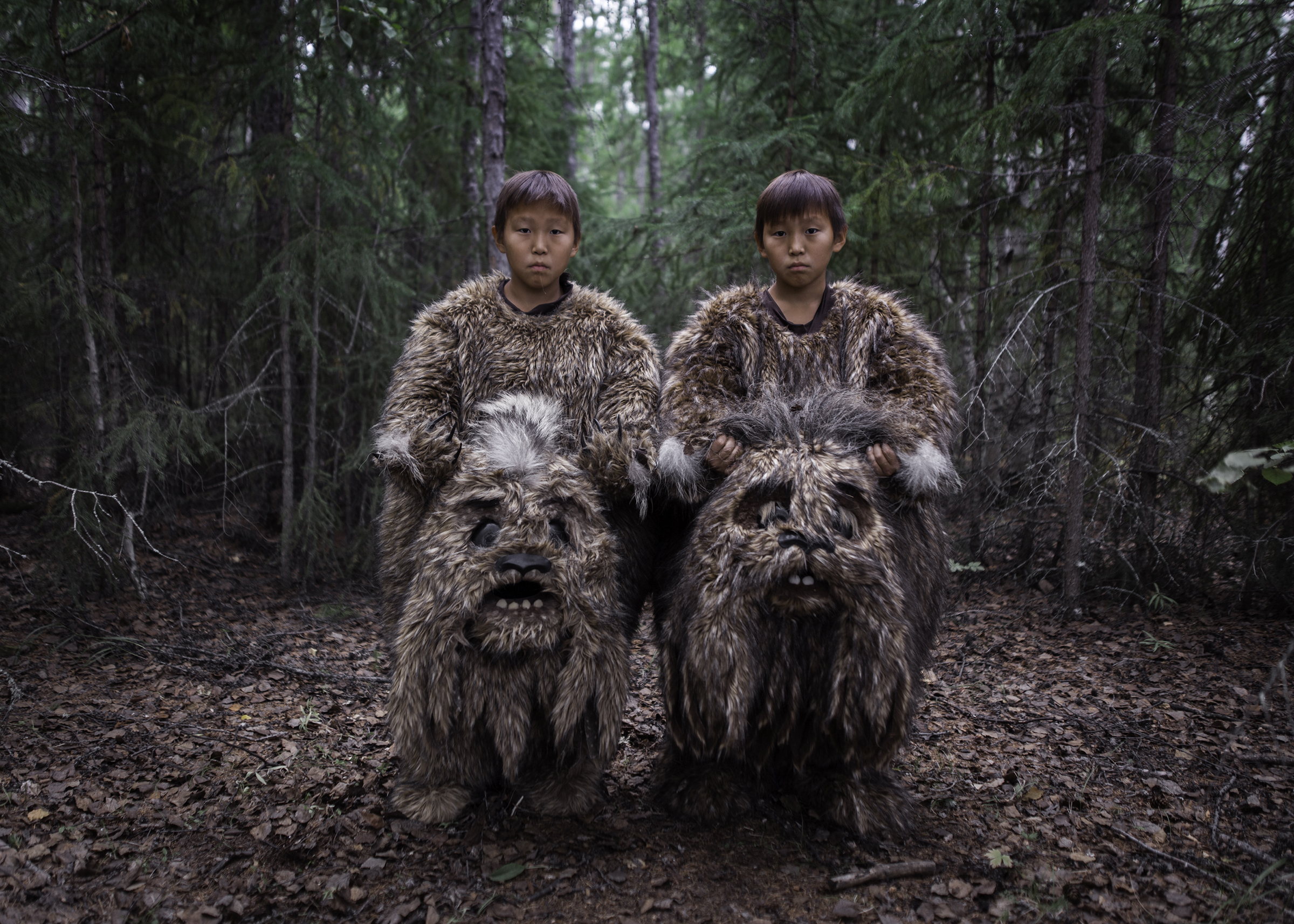 Twins Semyon and Stepan starred in the fairy tale  The Old Beyberikeen  playing the roles of mythical creatures living in the swamps. It was their first film.