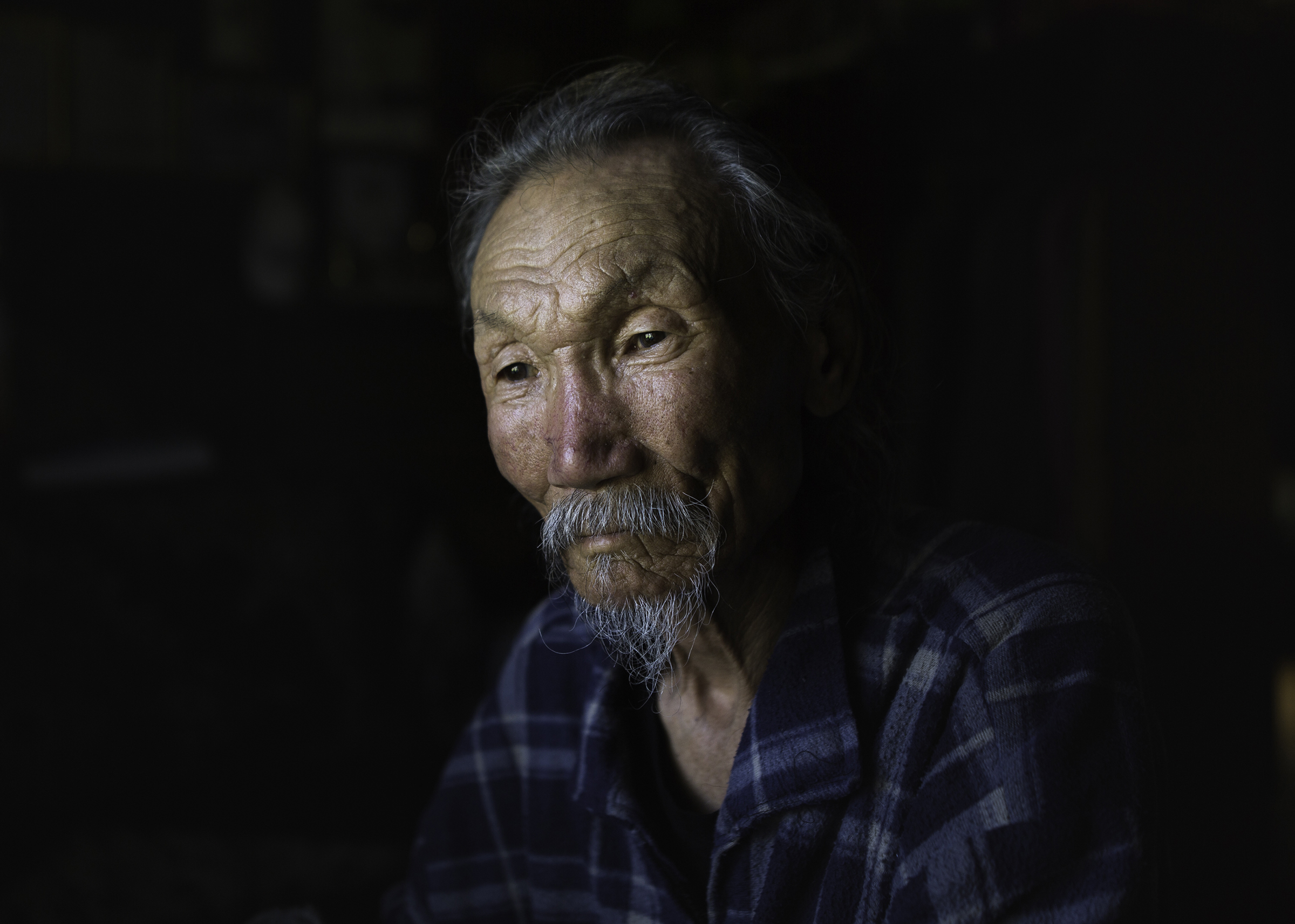 Stepan Petrov, 74, became a celebrity not only in Yakutia but also in Russia after starring in 'The Lord Eagle' in 2018. He still plays in the folk theatre of his small village Kerdem, where he lives with his wife.