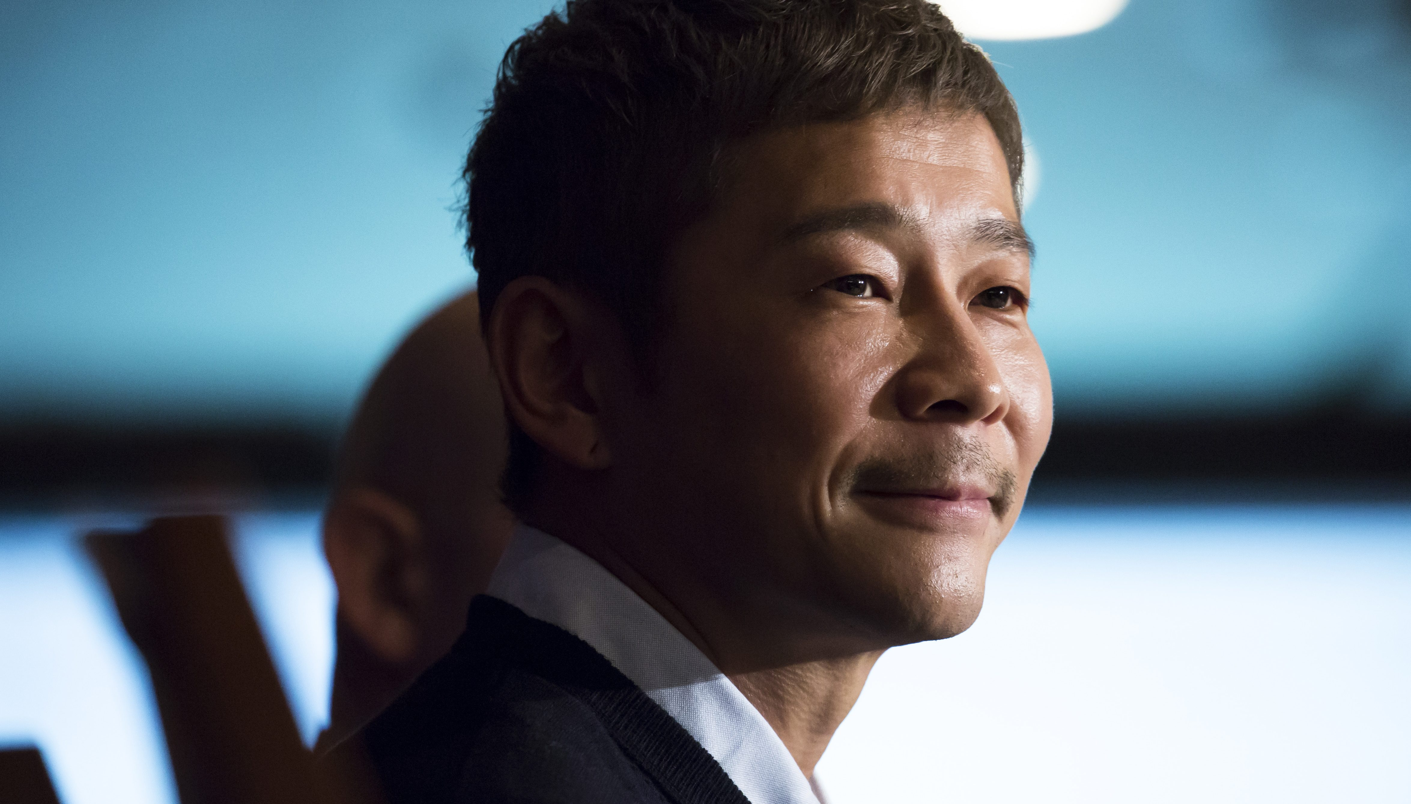 Yusaku Maezawa attends a news conference in Tokyo, Japan, on Oct. 9, 2018.