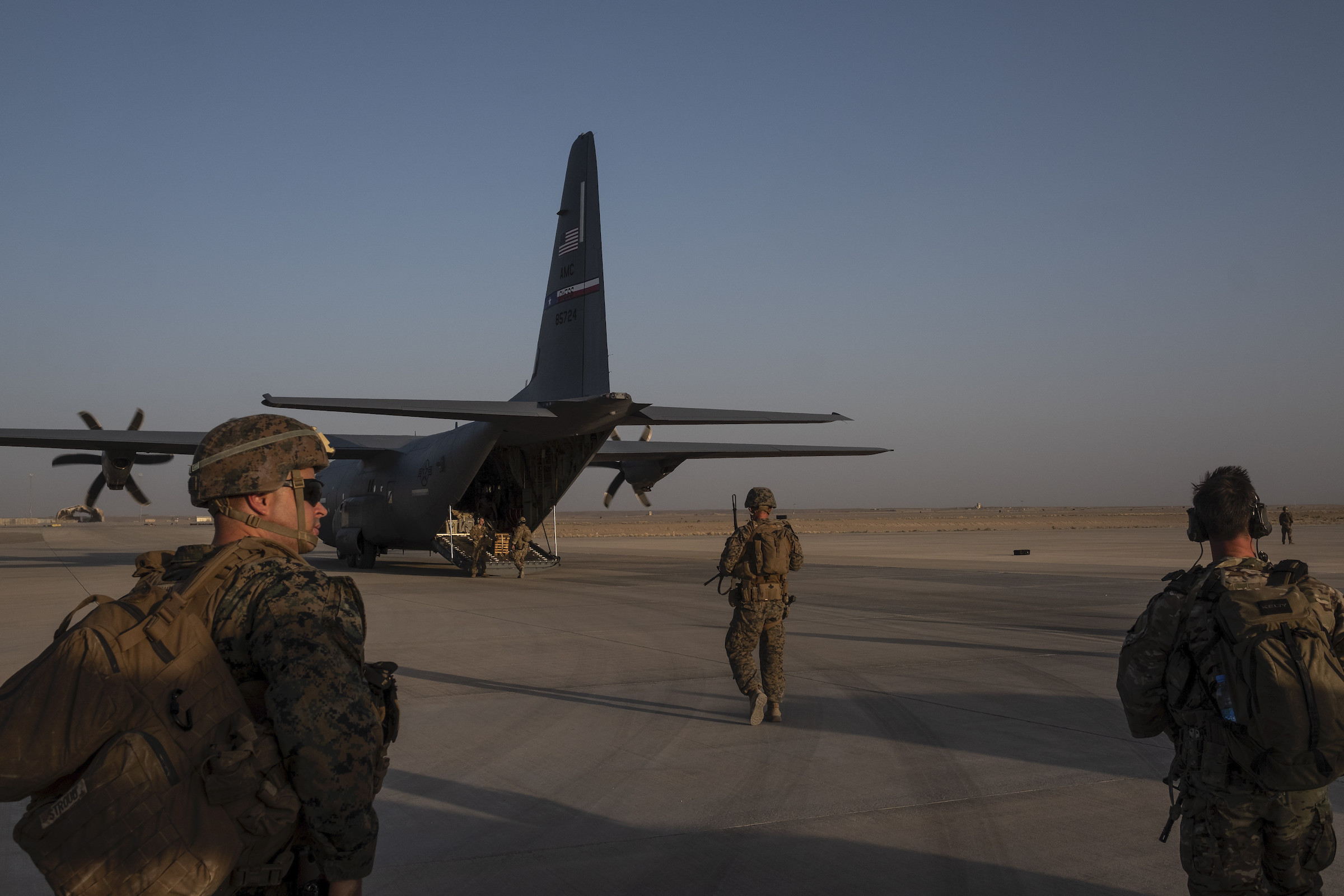 American military personnel at Camp Shorabak in Helmand Province, Afghanistan, Sept. 26, 2019.